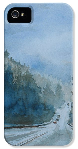 Between The Showers On Hwy 101 IPhone 5 Case by Jenny Armitage