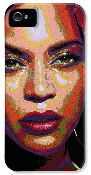 Beyonce IPhone 5 Case by Maria Arango