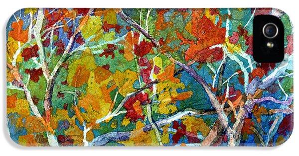 Beyond The Woods - Orange IPhone 5 Case by Hailey E Herrera