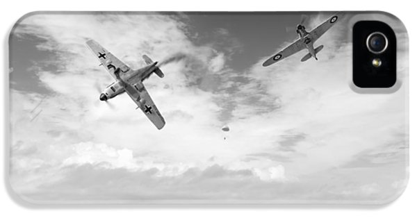 IPhone 5 Case featuring the photograph Bf109 Down In The Channel Bw Version by Gary Eason