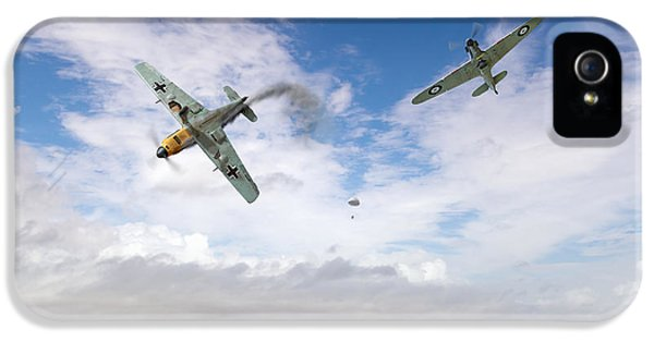 IPhone 5 Case featuring the photograph Bf109 Down In The Channel by Gary Eason
