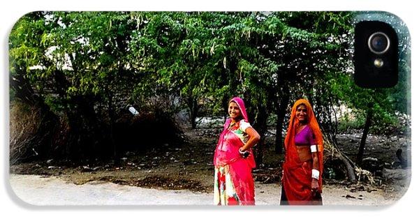 Bff Best Friends Pregnant Women Portrait Village Indian Rajasthani 1 IPhone 5 / 5s Case by Sue Jacobi
