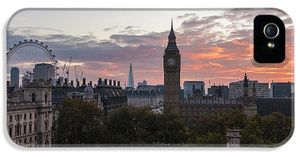 Big Ben London Sunrise IPhone 5 Case by Mike Reid
