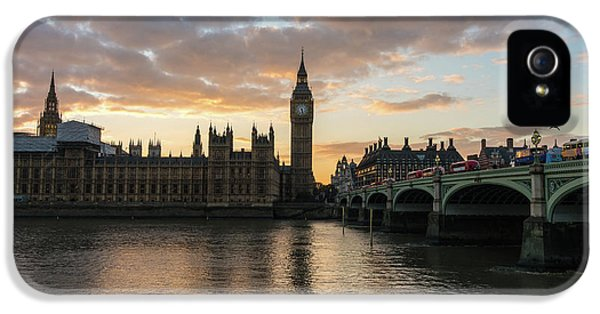 Big Ben London Sunset IPhone 5 Case by Mike Reid