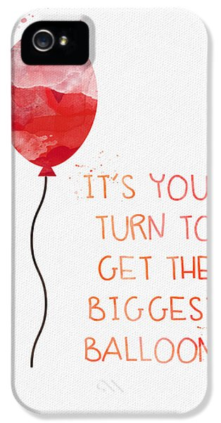 Biggest Balloon- Card IPhone 5 Case by Linda Woods