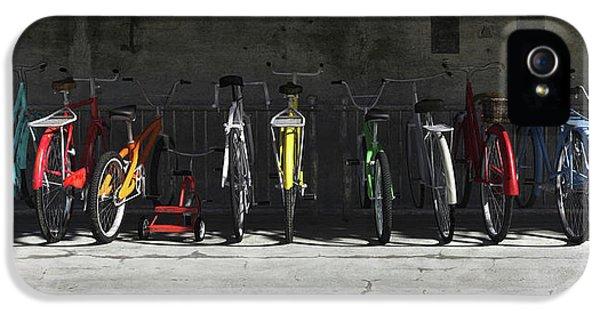 Bicycle iPhone 5 Case - Bike Rack by Cynthia Decker