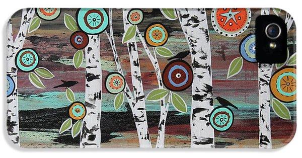 Blackbird iPhone 5 Case - Birch Woods by Karla Gerard