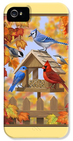 Bluebird iPhone 5 Case - Bird Painting - Autumn Aquaintances by Crista Forest