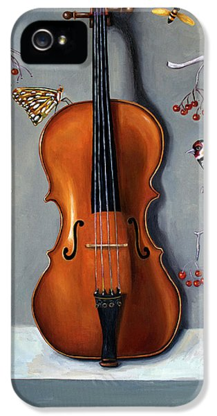 Violin iPhone 5 Case - Bird Song by Leah Saulnier The Painting Maniac