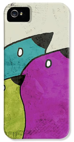 Birdies - V06c IPhone 5 Case by Variance Collections