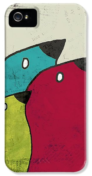 Birdies - V101s1t IPhone 5 Case by Variance Collections