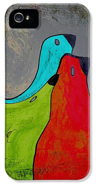 Birdies - V110b IPhone 5 Case by Variance Collections