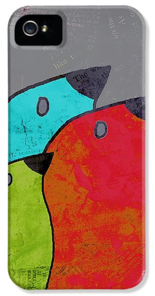 Birdies - V11b IPhone 5 Case by Variance Collections