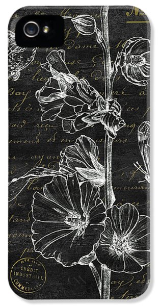 Hummingbird iPhone 5 Case - Black And Gold Hummingbirds 2 by Debbie DeWitt