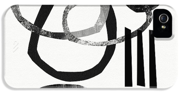 Black And White- Abstract Art IPhone 5 Case by Linda Woods