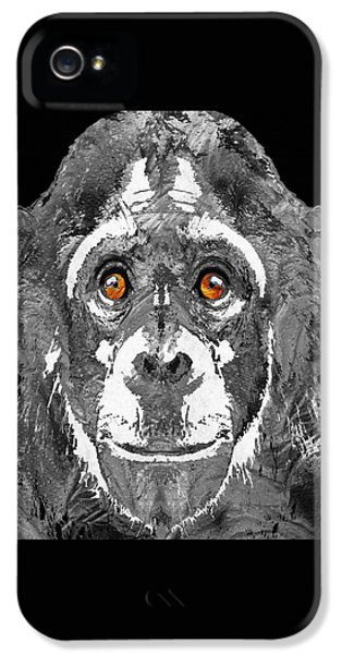 Black And White Art - Monkey Business 2 - By Sharon Cummings IPhone 5 / 5s Case by Sharon Cummings