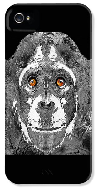 Black And White Art - Monkey Business 2 - By Sharon Cummings IPhone 5 Case