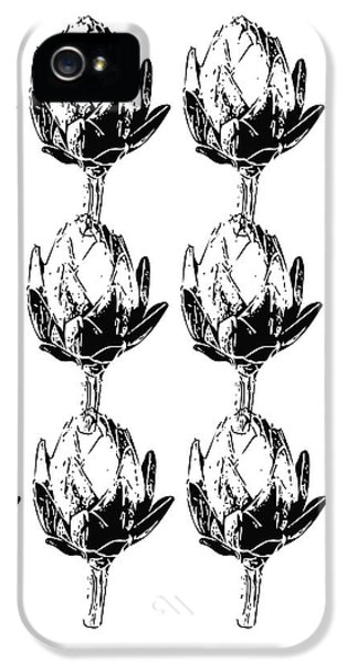 Black And White Artichokes- Art By Linda Woods IPhone 5 Case by Linda Woods