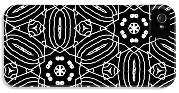 Black And White Boho Pattern 2- Art By Linda Woods IPhone 5 Case by Linda Woods