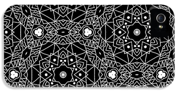 Black And White Boho Pattern 3- Art By Linda Woods IPhone 5 / 5s Case by Linda Woods
