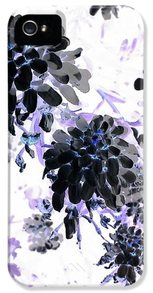 iPhone 5 Case - Black Blooms I by Orphelia Aristal