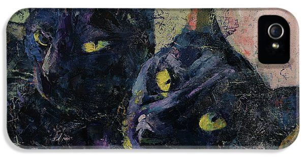 Chat iPhone 5 Case - Black Cats by Michael Creese