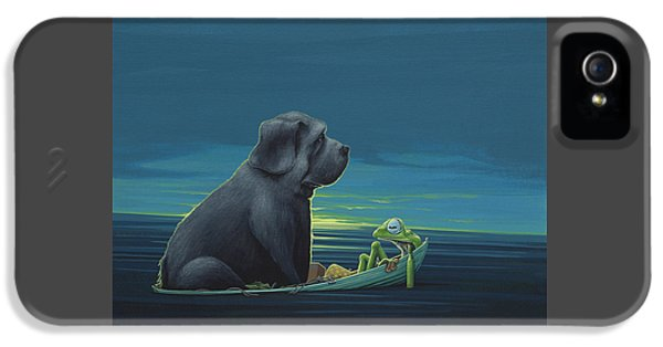 Amphibians iPhone 5 Case - Black Dog by Jasper Oostland