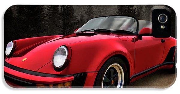 Porsche 911 iPhone 5 Cases - Black Forest - Red Speedster iPhone 5 Case by Douglas Pittman