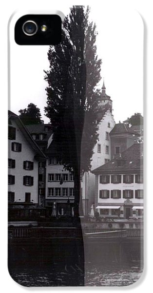 iPhone 5 Case - Black Lucerne by Christian Eberli