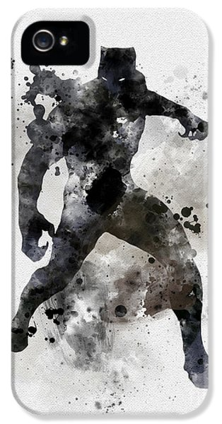 Panther iPhone 5 Case - Black Panther by Rebecca Jenkins