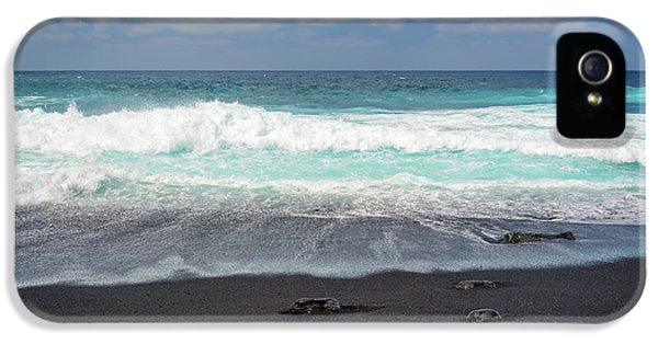 Canary iPhone 5 Case - Black Sand Beach by Delphimages Photo Creations