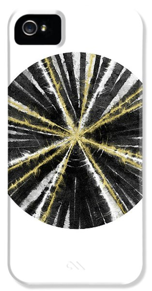 Black, White And Gold Ball- Art By Linda Woods IPhone 5 Case