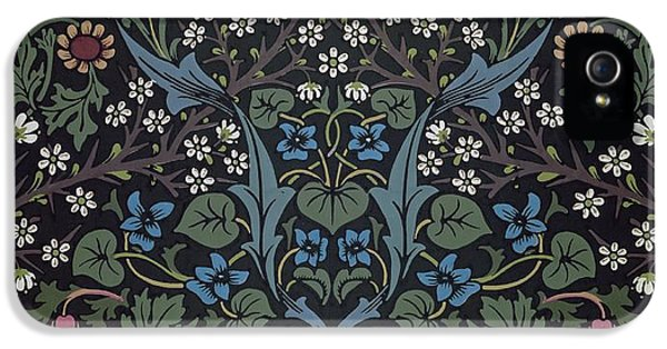 Blackthorn Wallpaper Design IPhone 5 Case by William Morris