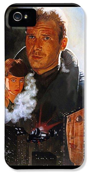 Blade Runner IPhone 5 Case by Neil Feigeles