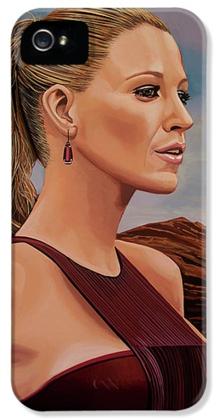 Blake Lively Painting IPhone 5 Case by Paul Meijering