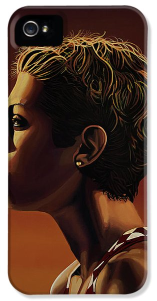 Blanka Vlasic Painting IPhone 5 Case by Paul Meijering