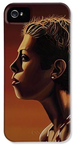 Blanka Vlasic Painting IPhone 5 Case by Paul Meijering