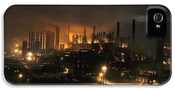 Blast Furnaces Of A Steel Mill Light IPhone 5 Case