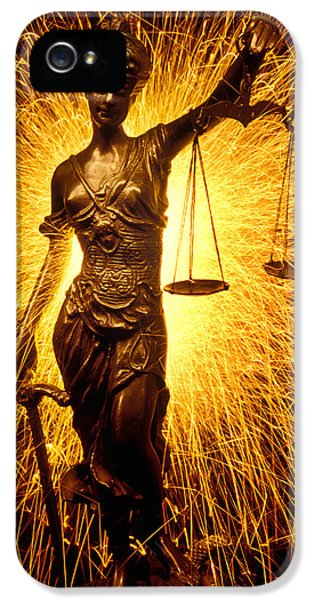 Blind Justice  IPhone 5 Case by Garry Gay