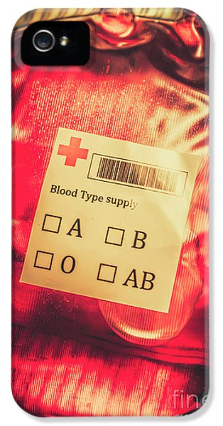 Blood Donation Bag IPhone 5 Case