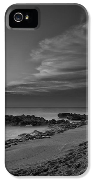 Blowing Rocks Black And White Sunrise IPhone 5 Case by Andres Leon