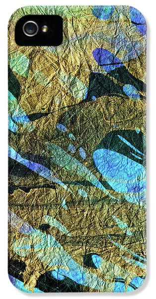 Blue Abstract Art - Deeper Visions 2 - Sharon Cummings IPhone 5 Case by Sharon Cummings