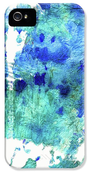 Blue And Aqua Abstract - Wishing Well - Sharon Cummings IPhone 5 Case by Sharon Cummings