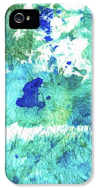 Blue And Green Abstract - Imagine - Sharon Cummings IPhone 5 Case by Sharon Cummings