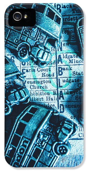 Pendant iPhone 5 Case - Blue Britain Bus Bill by Jorgo Photography - Wall Art Gallery