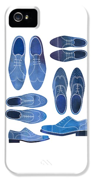 Blue Brogue Shoes IPhone 5 Case by Nic Squirrell