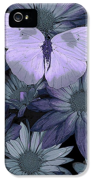 Blue Butterfly IPhone 5 Case by JQ Licensing