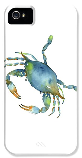 Blue Crab IPhone 5 Case by Amy Kirkpatrick