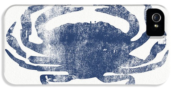 Blue Crab- Art By Linda Woods IPhone 5 Case