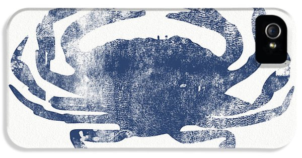 Blue Crab- Art By Linda Woods IPhone 5 Case by Linda Woods